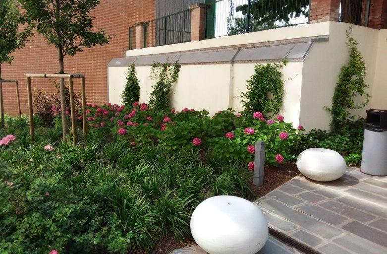I giardini dell'ampliamento dell'Ospedale di Montecatone